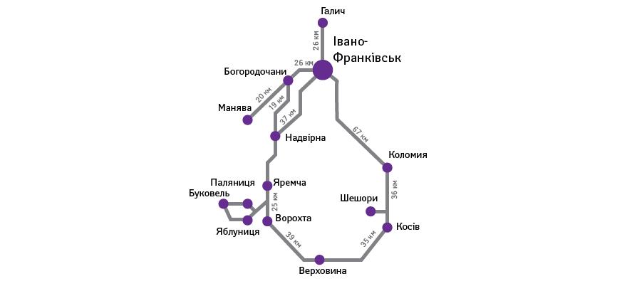 карта буковель отели